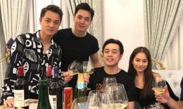 Vợ chồng Dương Khắc Linh, Lê Hiếu đến dự sinh nhật ca sĩ Đăng Khôi