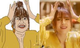 Không ai dìm tự chìm, Lan Ngọc tung ảnh chế những biểu cảm 'khó đỡ' của mình trong MV mới