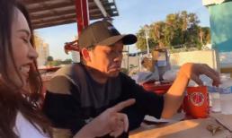 Hoài Linh bĩu môi khi được Dương Triệu Vũ dẫn đi ăn cua ở Mỹ