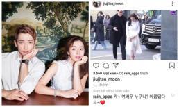 Được tin Kim Tae Hee chính thức lộ diện sau khi lâm bồn, Bi Rain nhiệt tình thả tim, công khai tâng bốc bà xã lên trời