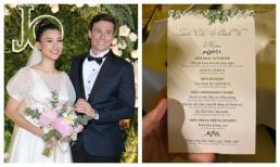Thực đơn tiệc cưới của Hoàng Oanh và chồng Tây