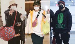 Dàn sao Running Man đổ bộ sân bay Hàn sang Việt Nam: Song Ji Hyo vẫn trung thành với mặt mộc, các thành viên nam mặc đồ siêu ấm áp