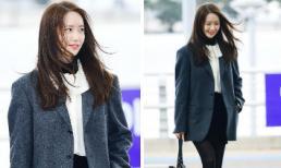 Khoảnh khắc tóc gió thôi bay đẹp đến nao lòng của Yoona ở phi trường