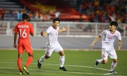 Đức Chinh ghi bàn quý như vàng giúp U22 Việt Nam đánh bại 'bầy sư tử non' Singapore