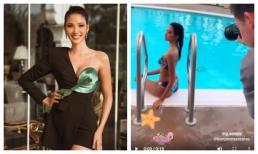 Hoàng Thùy là thí sinh duy nhất được Miss Universe khoe khoảnh khắc chụp ảnh bikini