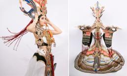 Trang phục dân tộc đuôi 2,5 mét của Á hậu Oanh Lê tại Mrs International World 2019 gây ấn tượng mạnh