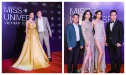 Thảm đỏ Chung kết Hoa hậu Hoàn vũ 2019: Nam Anh - Nam Em sóng đôi, Á hậu Hoàng Oanh xuất hiện cùng chồng Tây hậu đám cưới