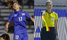 Tình huống nữ trọng tài xinh đẹp bắt việt vị cầu thủ nữ Thái Lan, 'cứu nguy' cho ĐT Việt Nam