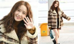 Đổi kiểu tóc lại lộ chân thon, Yoona được ví như nàng công chúa giữa phi trường