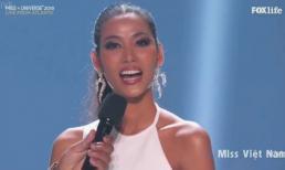 Hoàng Thùy thể hiện trình độ tiếng Anh ấn tượng ở chung kết Hoa hậu Hoàn vũ