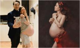 Cận kề ngày sinh, bà xã MC Thành Trung phải mặc quần của chồng, bụng trễ tới đùi