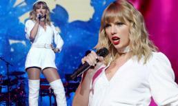 Taylor Swift phô dáng đẹp với jumpsuit sành điệu nhưng vòng một khủng ngày nào đâu rồi?