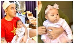 Sau 3 tháng, con gái nhỏ của Ưng Hoàng Phúc đã lớn nhanh như thổi và giống bố như tạc