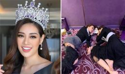Bị chụp lén khi ngủ ở hậu trường, Hoa hậu Khánh Vân vẫn được khen ngợi hết lời