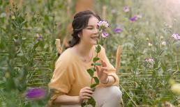 Lý Nhã Kỳ khoe vẻ đẹp không tì vết trong vườn hoa Đà Lạt