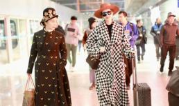Mẹ con Phạm Băng Băng xuất hiện lồng lộn, biến sân bay thành sàn catwalk