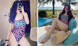Cùng diện đồ bơi Gucci, Khánh My và Trang Nhung bất ngờ giống nhau như hai chị em