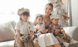 Hải Băng hạnh phúc bên ba con trong bộ ảnh đón Noel
