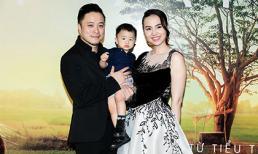 Victor Vũ cùng Đinh Ngọc Diệp bế con trai kháu khỉnh dự thảm đỏ của 'Mắt biếc'