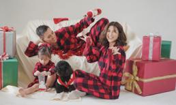 Vợ chồng diễn viên Kiên Hoàng thực hiện bộ ảnh Noel cực yêu bên con gái