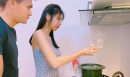 Thủy Tiên vào bếp trổ tài nấu chè sầu riêng theo công thức 'tự chế' cho Công Vinh