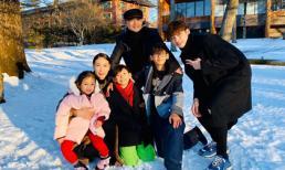 Vợ chồng Hà Kiều Anh đưa cả con riêng, con chung đi du lịch Nhật Bản
