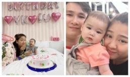 Sinh nhật con gái đầu lòng của NSƯT Kim Tử Long nhưng cháu ngoại lại chiếm spotlight vì quá đáng yêu