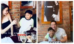 Không chỉ đưa Subeo đi ăn, Kim Lý còn ôm ấp con trai của Hà Hồ cực tình cảm