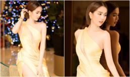 Ngọc Trinh diện váy xẻ tà khoe da thịt 'siêu gợi cảm' dự sự kiện ở Malaysia