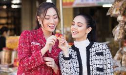 Lương Thuỳ Linh và Miss World 2013 Megan Young diện trang phục 'chị chị em em' khám phá Đà Lạt