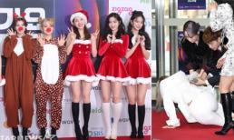Thảm đỏ SBS Gayo Daejun 2019: Twice 'chơi trội' khi diện đồ Giáng sinh, Solar (Mamamoo) bị ngã sấp mặt