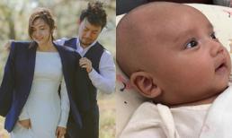 Theo trào lưu khoe con, vợ Đinh Tiến Đạt chính thức giới thiệu con trai
