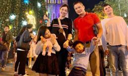 Jennifer Phạm 'vác bụng bầu lớn' đi chơi cùng ông xã và 2 con