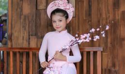 Diện áo dài siêu dễ thương như mẫu nhí Lâm Nguyễn Minh Vy