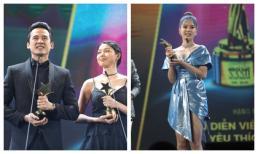 Lương Thế Thành nhận giải Nam diễn viên truyền hình xuất sắc nhất, Hoàng Yến Chibi thắng giải được khán giả yêu thích nhất ở Ngôi Sao Xanh 2019