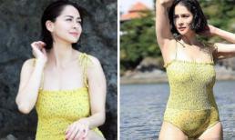 """8 tháng sau khi sinh con """"Mỹ nhân đẹp nhất Philippines"""" tự tin mặc đồ bơi khoe thân hình gợi cảm, ảnh vừa đăng đã hút hàng trăm nghìn lượt like"""