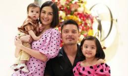 'Mỹ nhân đẹp nhất Philippines' và con gái mặc đồ ton-sur-ton đón năm mới cùng gia đình