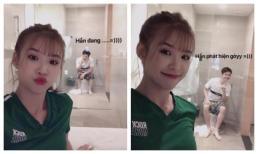 Mới đầu năm, Khởi My đã troll chồng: Chụp lúc Kelvin Khánh đang đi WC mới lầy chứ!