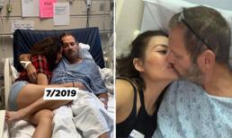 Hình ảnh xúc động khi Ngọc Anh 3A giúp chồng Tây chiến đấu với bệnh tật