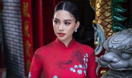 Chuẩn gương mặt đẹp nhất năm, Tiểu Vy lại tung bộ ảnh mới trong trang phục truyền thống