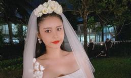 Trương Quỳnh Anh đăng ảnh diện váy cô dâu, sự thật phía sau gây xúc động
