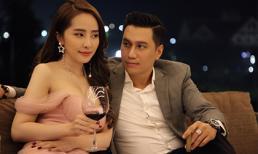 Quỳnh Nga mặc váy trễ nải khoe vòng một căng tràn, thân thiết bên Lê Việt Anh