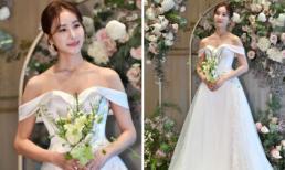 Tình địch của Song Hye Kyo trong 'Ngôi nhà hạnh phúc' mặc váy cưới trễ vai, trở thành cô dâu đẹp nhất ngày hôm nay