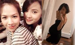 Em gái xinh đẹp của MC Đan Lê công khai ảnh bầu bí hơn 8 tháng