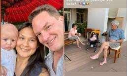 Vợ mới của chồng cũ Hồng Nhung đưa con về thăm ông bà
