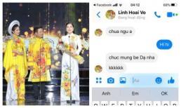 Hứa Minh Đạt khoe vợ lần thứ hai đoạt giải Mai Vàng, đàn anh Hoài Linh đã nhắn tin chúc mừng
