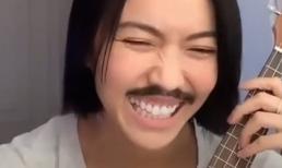 Diệu Nhi đeo râu giả 'phá hit' của Binz, dân mạng bái phục 'tài năng' tự dìm bất chấp của cô nàng