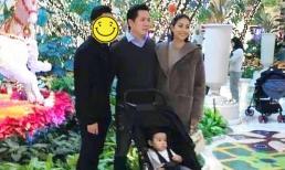 Lần đầu tiên Phạm Hương xuất hiện cùng chồng doanh nhân và con trai tại Mỹ, dung nhan đã rõ mồn một