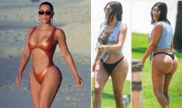 Đốt mắt với body xôi thịt thế này nhưng nhìn lại hình ảnh 'bàn tọa' sần sùi, lồi lõm 3 năm trước của Kim Kardashian vẫn rùng mình