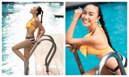 Đoan Trang diện bikini khoe vóc dáng thon gọn nuột nà